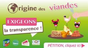POUR UN ETIQUETAGE OBLIGATOIRE DE L'ORIGINE DES VIANDES