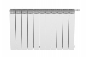 Front view of heating radiator