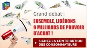La contribution des consommateurs au Grand débat national. Pour une progression durable du pouvoir d'achat de 9 milliards d'euros